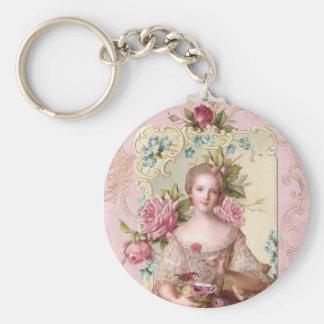 Porte-clés Porte - clé rococo rose