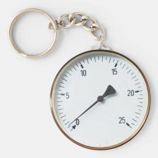 Porte-clés Porte - clé rond de cadran d'indicateur de