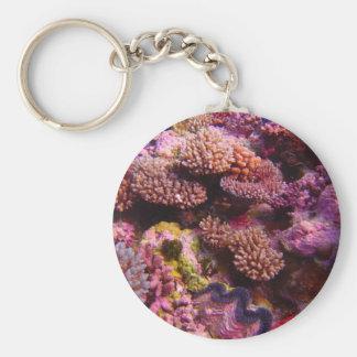 Porte-clés Porte - clé rond de jardin de corail