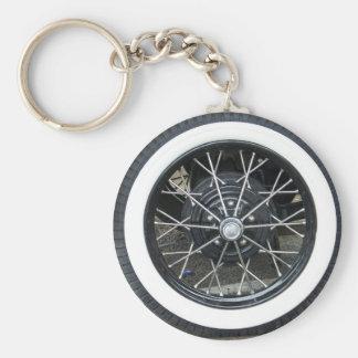 Porte-clés Porte - clé rond de voiture de roue vintage de