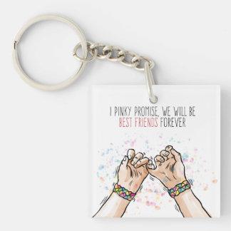 Porte-clés Porte - clé rosâtre de promesse de meilleurs amis