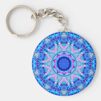 Porte-clés Porte - clé rose bleu de kaléidoscope