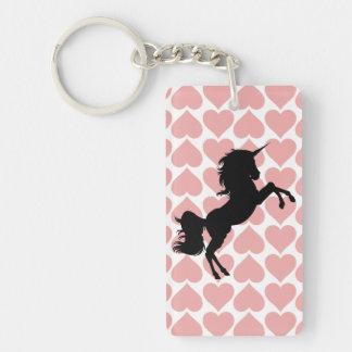 Porte-clés porte - clé rose d'amour de motif de coeurs de