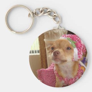 Porte-clés porte - clé rose de chiwawa