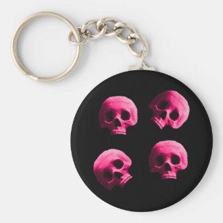 Porte-clés Porte - clé rose de crânes
