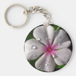 Porte-clés Porte - clé rose de fleur de Vinca