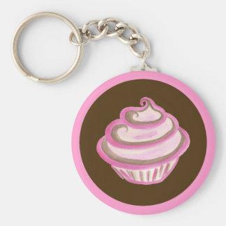 Porte-clés Porte - clé rose de petit gâteau de remous