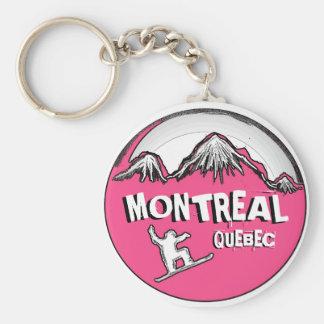Porte-clés Porte - clé rose de surfeur de Montréal Québec