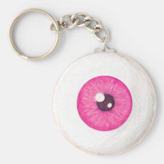 Porte-clés Porte - clé rose déplaisant de globe oculaire
