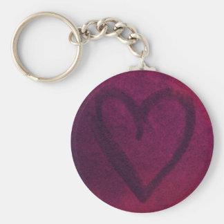 Porte-clés Porte - clé (rose-foncé) rouillé de coeur