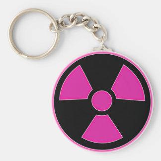 Porte-clés Porte - clé rose radioactif