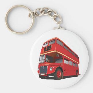 Porte-clés Porte - clé rouge d'autobus à impériale