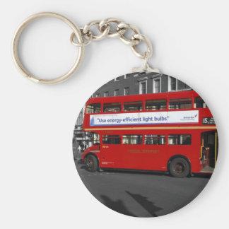Porte-clés Porte - clé rouge d'autobus teinté par rouge de