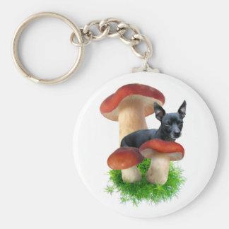 Porte-clés Porte - clé rouge de chien de champignon