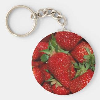 Porte-clés Porte - clé rouge de fraises