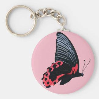 Porte-clés Porte - clé rouge de papillon - rose
