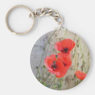 Porte-clés Porte - clé rouge de pavots de maïs de champ
