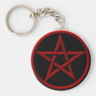 Porte-clés Porte - clé rouge de pentagone étoilé