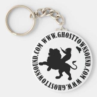 Porte-clés Porte - clé sain de la ville fantôme B&W