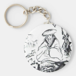 Porte-clés Porte - clé samouraï méditant