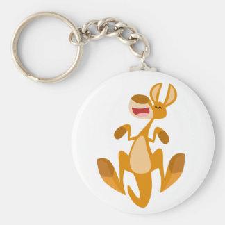 Porte-clés Porte - clé sautant de kangourou de bande dessinée