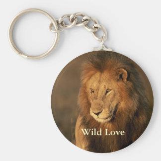 Porte-clés Porte - clé sauvage de lion d'amour