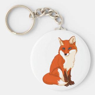 Porte-clés Porte - clé se reposant mignon de Fox