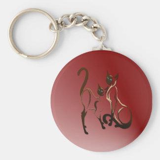 Porte-clés Porte - clé siamois de 2 minous