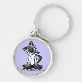 Porte-clés Porte - clé siamois de chaton