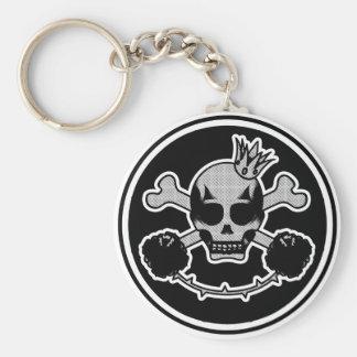 Porte-clés porte clé skull head
