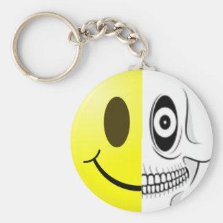 Porte-clés Porte - clé souriant de crâne