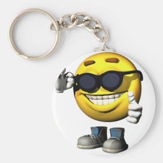 Porte-clés Porte - clé souriant frais de visage