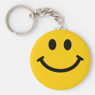 Porte-clés Porte - clé souriant heureux jaune de visage