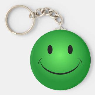 Porte-clés Porte - clé souriant vert