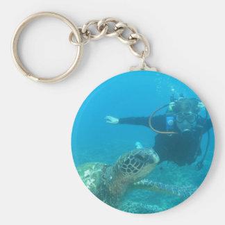Porte-clés Porte - clé sous-marin de la vie de scaphandre
