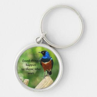 Porte-clés Porte - clé superbe de citation d'oiseau