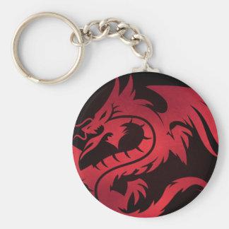 Porte-clés Porte - clé tribal rouge de dragon