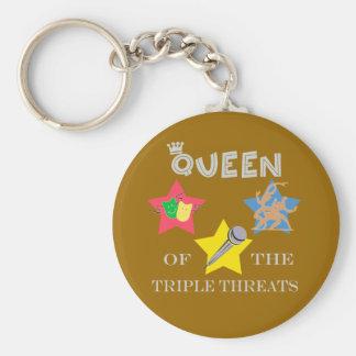 Porte-clés Porte - clé triple de la Reine de menace