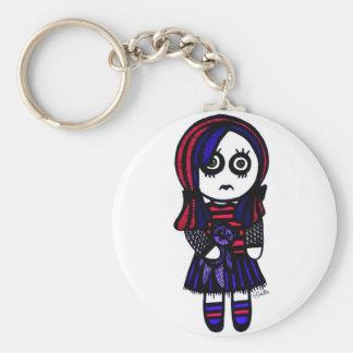 Porte-clés Porte - clé triste de fille de Goth