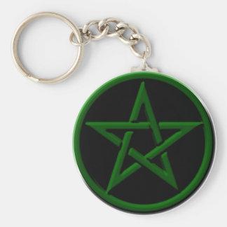 Porte-clés Porte - clé vert de pentagone étoilé