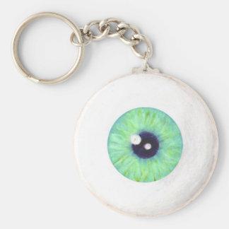 Porte-clés Porte - clé vert déplaisant de globe oculaire