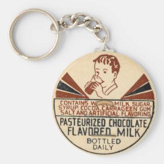Porte-clés Porte - clé vintage de capsule de lait chocolaté