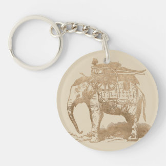 Porte-clés Porte - clé vintage d'éléphant d'Asie