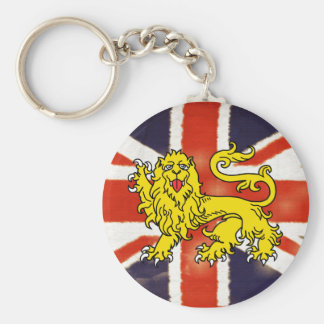 Porte-clés Porte - clé vintage d'Union Jack de lion