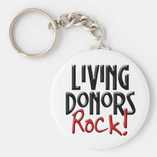 Porte-clés Porte - clé vivant de roche de donateurs