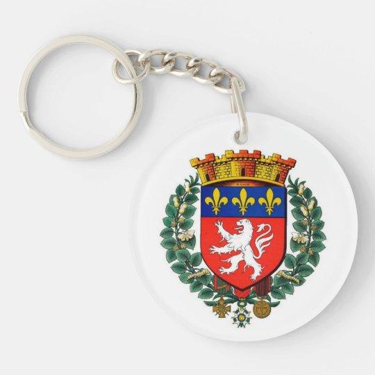 Porte-clés porte clef acrylique blason lyon