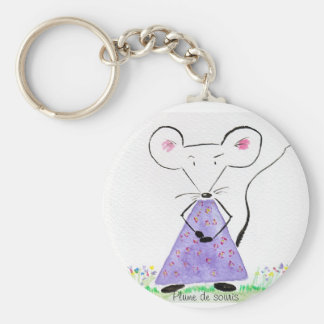 Porte-clés Porte clef Plume de souris au printemps