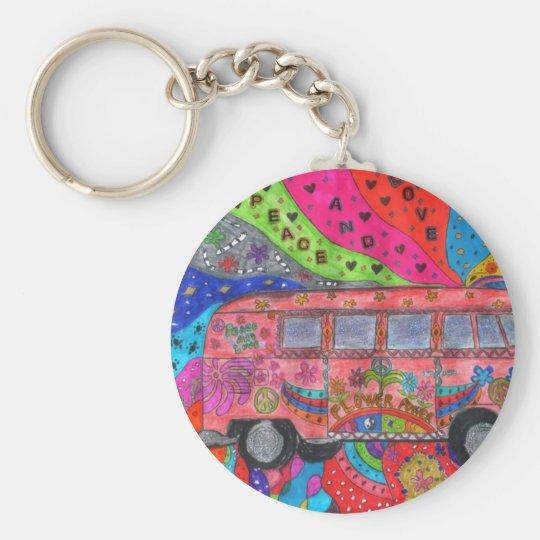 Porte-clés porte clef van-hippie