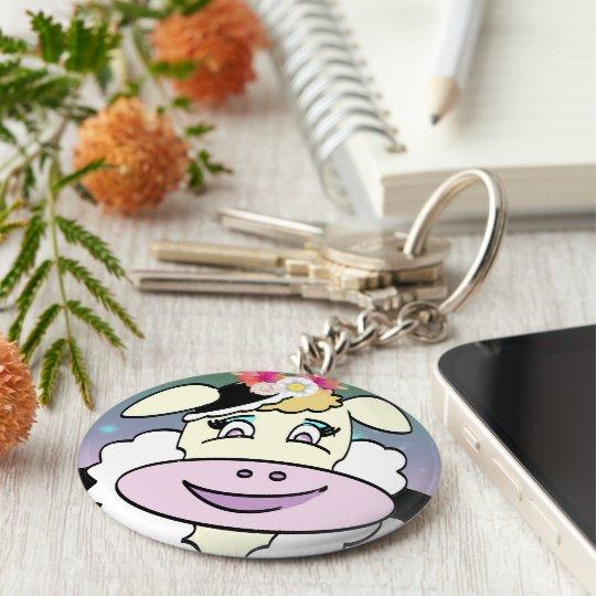 """Porte-clés porte clés basique """"portrait de vache"""""""