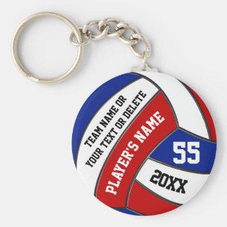 Porte-clés Porte - clés blancs et bleus rouges de volleyball,